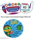 Fisher Price Fun 2 Learn Computer Cool School Software Super Why Game CD