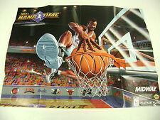 NBA Hangtime Sega Genesis Game Insert Poster Only