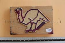 N109 French antique school rubber stamp farm animal turkey 10,5*7cm tampon dinde