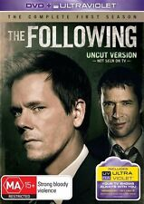 The Following : Season 1 (DVD, 2013, 4-Disc Set) Kevin Bacon (Region 4)