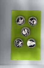 5 x 100 Fr. Münzen- ALBERTVILLE  - Silber ( 21038-o1 )