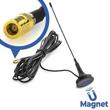 DAB Stab Antenne SMB Stecker 4m Kabel Auto Radio Magnet Fuß Signal Verstärker