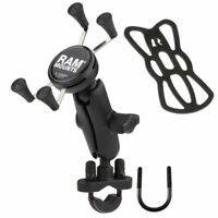 RAM Motorcycle Bike Handlebar Rail Mount w/ X-Grip Holder for Cell Phone, GPS