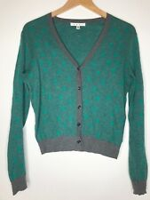 CAbi Style #903 Women's Size Small Polka Dot Green Gray Long Sleeve Cardigan