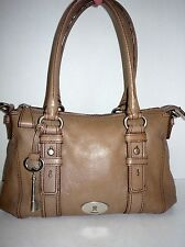 ~FOSSIL~ Maddox Taupe Leather Satchel Medium EUC!