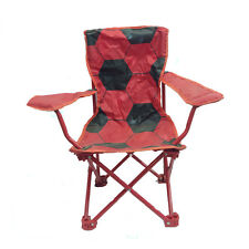 Sedia richiudibile compatta comoda da viaggio/campeggio rosso con pallone stampa