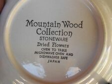 """New listing Mountain Wood Dried Flowers 7.5"""" Stoneware Dessert/Salad Plate Made in Japan"""