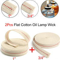 2Pcs 450mm 3/4'' 1'' Flat Cotton Oil Lamp Lantern Wick Kerosene Burner Lighting