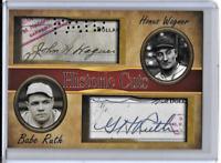 Babe Ruth Honus Wagner Historic Cuts Dual Facsimile Autographs