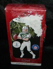 1997 Hallmark Keepsake Joe Namath NFL Score Board Trading Card Xmas Ornament