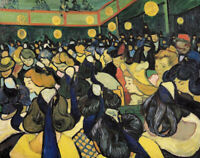 Dance Hall At Arles Van Gogh Classic Painting Print Canvas Home Decor Small 8x10