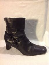 Clarks Black Ankle Leather Boots Size 8D