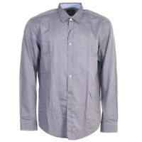 HUGO BOSS Shirt Blue Slim Fit Cotton Size 2XL RRP £109 TR 187