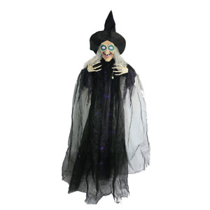 Animated Hanging Witch Halloween Decoration