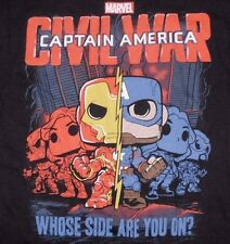 Funko Pop Civil War T-Shirt Large Marvel Comic Captain America Iron Man Avengers