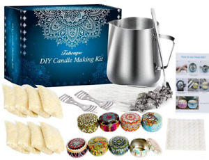Candle Making Kit DIY %100 Pure SOY Wax Kit Gift 2021