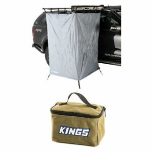 Adventure Kings Instant Ensuite Awning Shower Tent + 400GSM Canvas Toiletry Bag