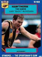 ✺New✺ 1990 HAWTHORN HAWKS AFL Card GARY BUCKENARA Scanlens