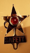 Red Dot Vintage Style Safety Star Lighted License Plate Topper,Bomber,Lead Sled