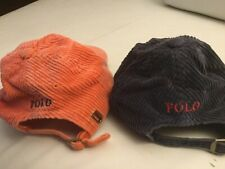 VINTAGE 2 CORDUROY POLO RALPH LAUREN BASEBALL  HATS BOYS SIZE  TODDLER