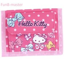 Hello Kitty Cat Bifold Wallet Kids Girl Purse Bag w/ Coin Pouch Card Holder Case