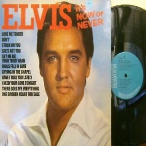 "King ELVIS Presley ""IT'S NOW OR NEVER"" Rare CDSV UK LP-EU Export ALTERNATE Cover"