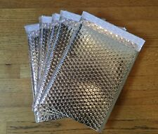 POLY BUBBLE MAILER PADDED ENVELOPES BUBBLE SHIPPING BAG 8.5x12 SILVER PACK OF 10