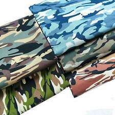 Poplin Camouflage Army Camo Print Fabric Quilting Sewing 1 Yard