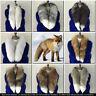Winter Natural Fox Fur Scarf Collar real fox fur Trim Wraps Neck Warmer