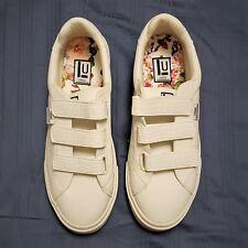 WOMEN'S LONDON UNDERGROUND White Shoes w/ Floral Insole Design Size 8.5 (M)