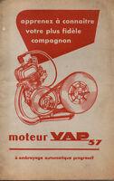 Catalogue notice entretien MOTEUR VAP 57 Mobylette