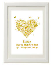 Unique Personalised Birthday gift print 1st 16th 18th 21st 30th 40th 50th 60th