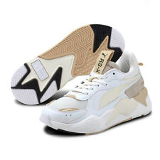 PUMA RS-X Mono Metal Shoes White Gold Ladies Trainers 374669 02
