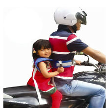 Kids children's black motorcycle-safety-belt véhicule électrique sangle de sécurité transporteur