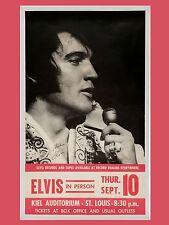 """Elvis Presley St Louis 16"""" x 12"""" Photo Repro Concert Poster"""