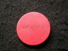 Antique Poker Chip - PLA-M-WEL - Red Wood Vintage Rare Old Gambling Game Gift
