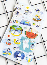 Penguin Polar Bear Paper Stickers Animals Scrapbooking DIY craft
