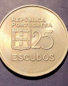 25 Escudos Portugal UNC coins  ( 1977  - 1986 )