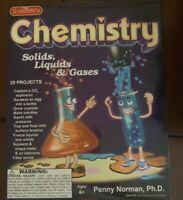 Science Wiz Chemistry Set Solids Liquids Gases Brand New In Unopened Box