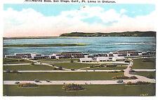 VIntage Postcard-Marine Base, Sand Diego, CA, Pt. Loma in Distance