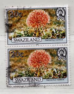 Swasiland 1983 MiNr.:348IIC, Paar gestempelt; Swaziland Scott: 355a, Yt:442