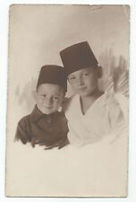 BP036 Carte Photo vintage card RPPC Enfant chapeau Fez portrait Turquie