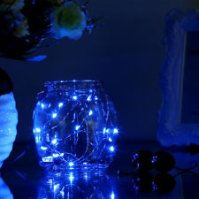 2M Copper Wire 20LEDs Blue Waterproof LED Starry Light String for Christmas Deco