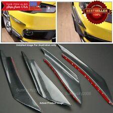 Carbon Effect Bumper Lip Splitter Wing Fin Spoiler Canards Diffuser for Dodge
