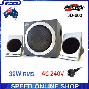 Juster 3D-603 Multimedia 2.1 CH (240V) Speaker System for Desktop PC, iPhone...