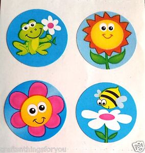 Sandylion Spring Flowers Bees Scrapbooking Stickers. *03 Squares* G116