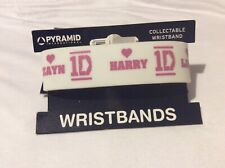 One Direction 1D  Harry Zayn Liam Louie Niall rubber wristband in white
