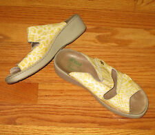Helle Comfort by RomusYellow Animal Print Leather Slide Sandals Size 9M
