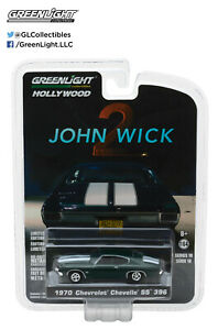 44780-F Greenlight Hollywood John Wick: Chapter 2 1970 Chevrolet Chevelle SS 396