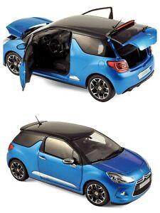 1/18 Norev Citroen DS3 2011 Belle Ile Blue Black Boîte Origine Livraison Domicil